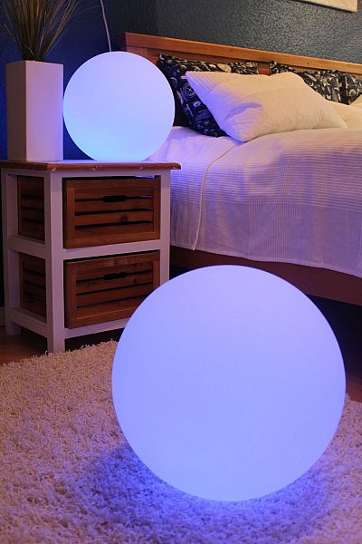 moderne kugelleuchten 16 farben lampe gartenlampe schwimmkugel schwimmlampe ebay. Black Bedroom Furniture Sets. Home Design Ideas