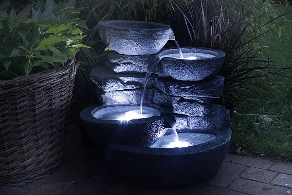 zimmerbrunnen cascades 3x led beleuchtung gartenbrunnen springbrunnen b ware ebay. Black Bedroom Furniture Sets. Home Design Ideas