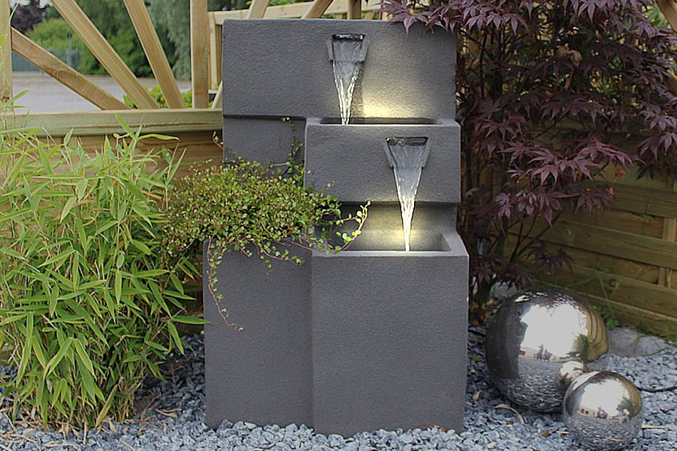 springbrunnen grada gartenbrunnen mit beleuchtung zimmerbrunnen bepflanzbar ebay. Black Bedroom Furniture Sets. Home Design Ideas