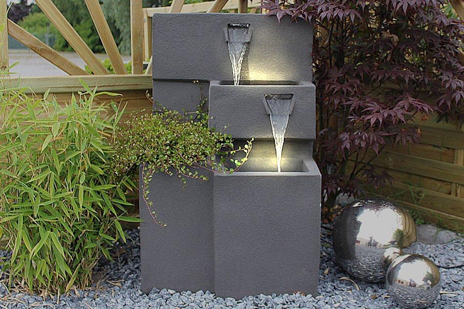 springbrunnen grada gartenbrunnen mit beleuchtung. Black Bedroom Furniture Sets. Home Design Ideas