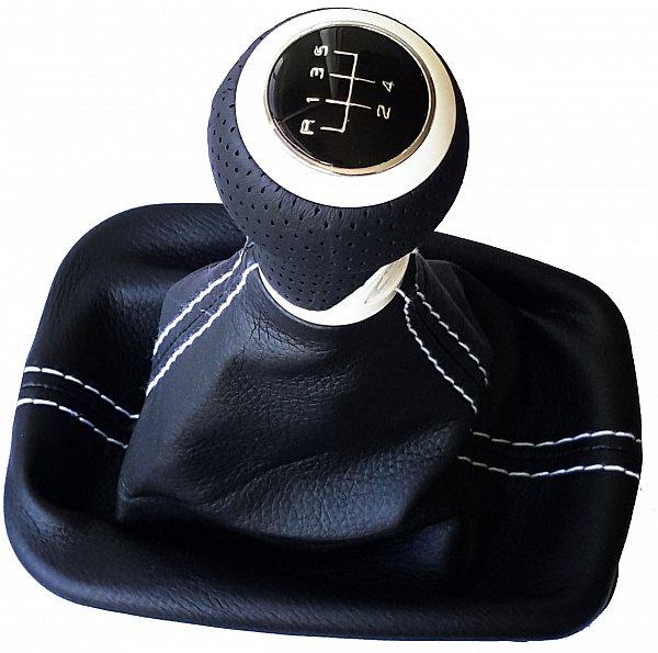 passt f r audi a1 a2 5 gang leder schaltknauf schaltsack. Black Bedroom Furniture Sets. Home Design Ideas