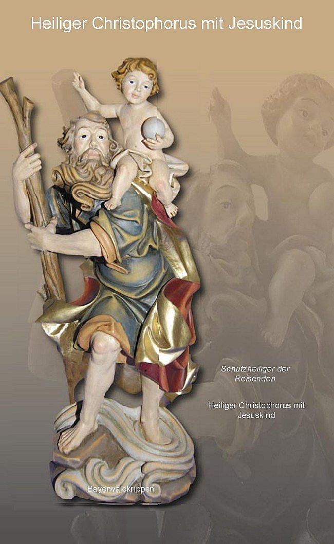 heiliger christophorus 40 cm einmalige heiligenfigur zum. Black Bedroom Furniture Sets. Home Design Ideas