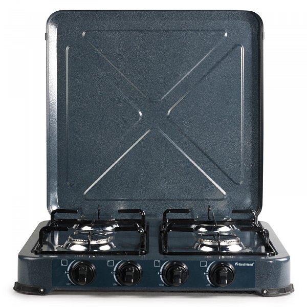 campingkocher gaskocher 4 flammig 6kw z ndsicherung. Black Bedroom Furniture Sets. Home Design Ideas