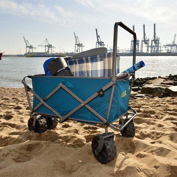 bollerwagen faltbar handwagen transportwagen strand beach klappbar 100 kg 245201 ebay. Black Bedroom Furniture Sets. Home Design Ideas