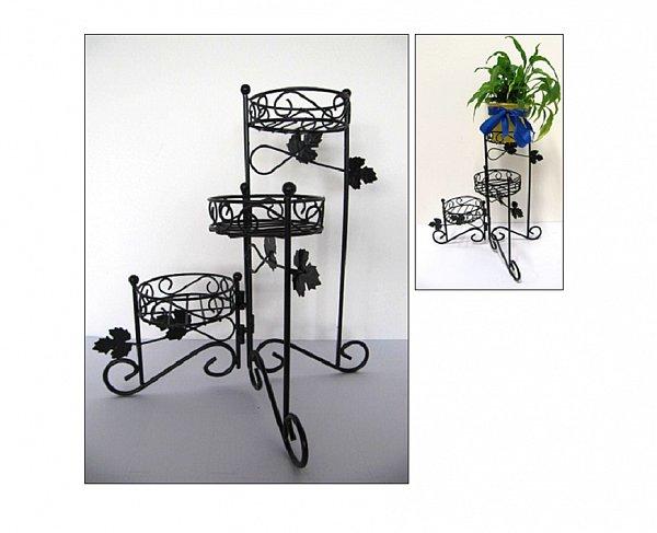 pflanzentreppe blumenst nder blumenregal blumentreppe 3 etagen metall 20492 ebay. Black Bedroom Furniture Sets. Home Design Ideas