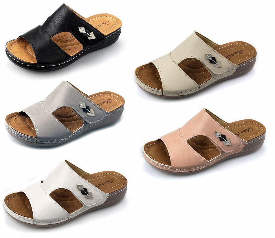 damen pantoletten sandalen sommer schuhe gr 37 bis 42 neu. Black Bedroom Furniture Sets. Home Design Ideas