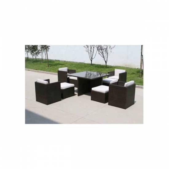 loungem bel polyrattan gartengruppe quadro gartenm bel ebay. Black Bedroom Furniture Sets. Home Design Ideas