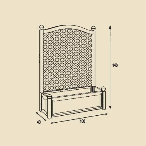 pflanzkasten gro mit spalier 100 cm blumenkasten. Black Bedroom Furniture Sets. Home Design Ideas