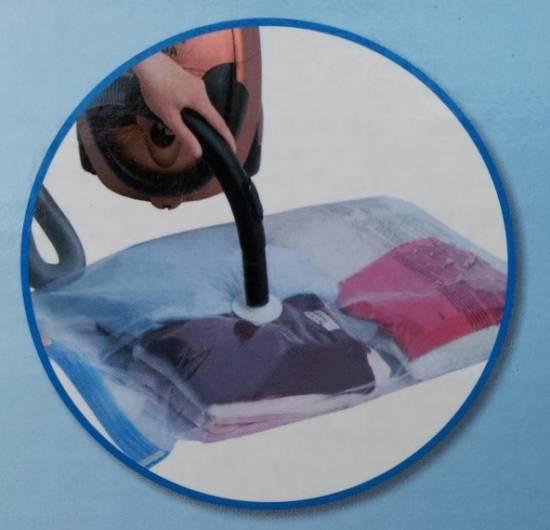 vakuumh lle kleiderh llen spacemaxx aufbewahrungsbeutel vakuumbeutel reisebeutel ebay. Black Bedroom Furniture Sets. Home Design Ideas