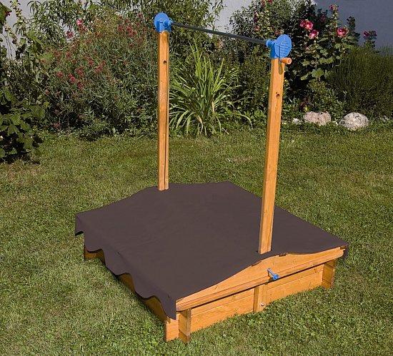 holz sandkasten mit kurbeldach sandkasten holzsandkasten. Black Bedroom Furniture Sets. Home Design Ideas