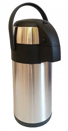 pumpkanne isolierkanne 3 liter kaffeekanne edelstahlkanne thermoskanne neu ebay. Black Bedroom Furniture Sets. Home Design Ideas