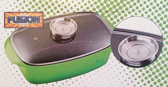 alugussbr ter mit aromaknopf br ter mit glasdeckel auflaufform fusion induktion ebay. Black Bedroom Furniture Sets. Home Design Ideas