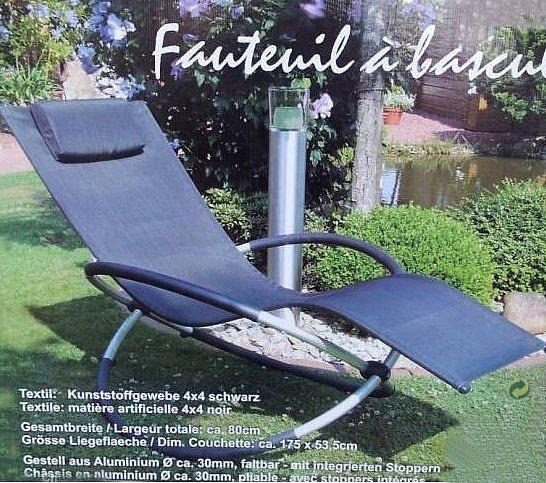 schaukelliege garten liege relaxliege gartenliege leco liege sonnenliege neu ebay. Black Bedroom Furniture Sets. Home Design Ideas