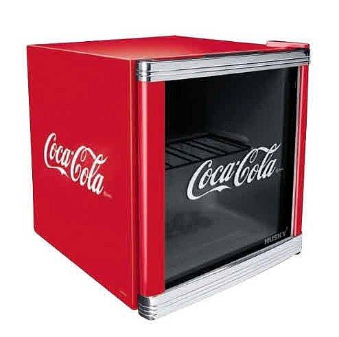 husky coolcube coca cola design k hlschrank 50 liter. Black Bedroom Furniture Sets. Home Design Ideas