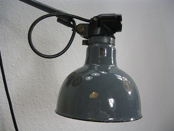 original rademacher lampe wandlampe werkstattlampe bauhaus industrialdesign ebay. Black Bedroom Furniture Sets. Home Design Ideas