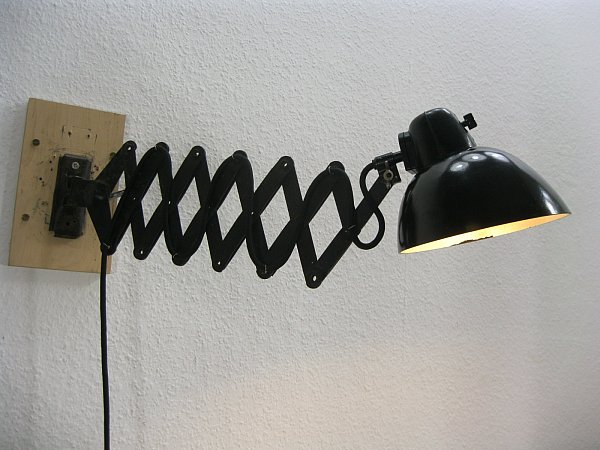 wandlampe scherenlampe modell ika lbl ddr keine kaiser idell ebay. Black Bedroom Furniture Sets. Home Design Ideas