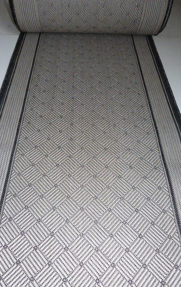 teppich designer anthrazit flachgewebe l ufer nach ma meterware breite 80 cm ebay. Black Bedroom Furniture Sets. Home Design Ideas