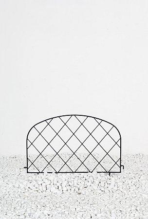 Minizaun aus metall zur gartendeko gartenbegrenzung ebay - Gartenbegrenzung metall ...
