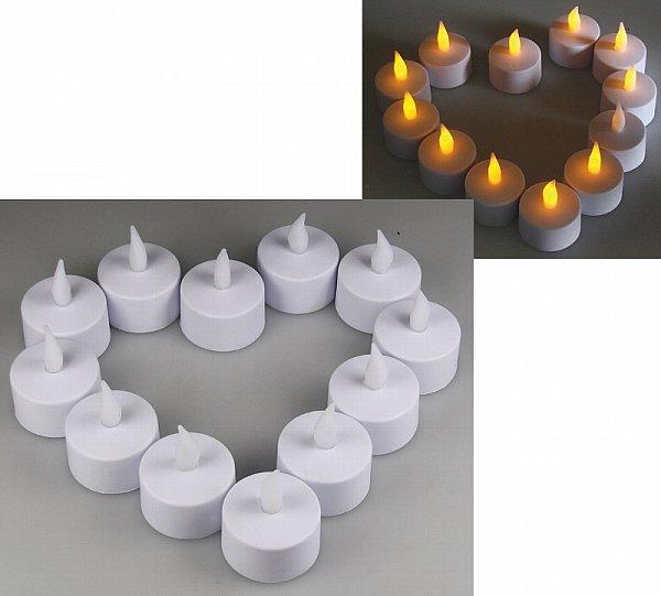 12 x led teelichter flackernde kerze teelicht led kerze inkl batterien 21009 ebay. Black Bedroom Furniture Sets. Home Design Ideas