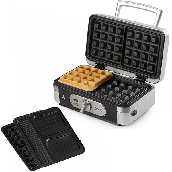 profi 3 in 1 waffeleisen sandwichmaker grill kombiger t kontaktgrill do9136c ebay. Black Bedroom Furniture Sets. Home Design Ideas