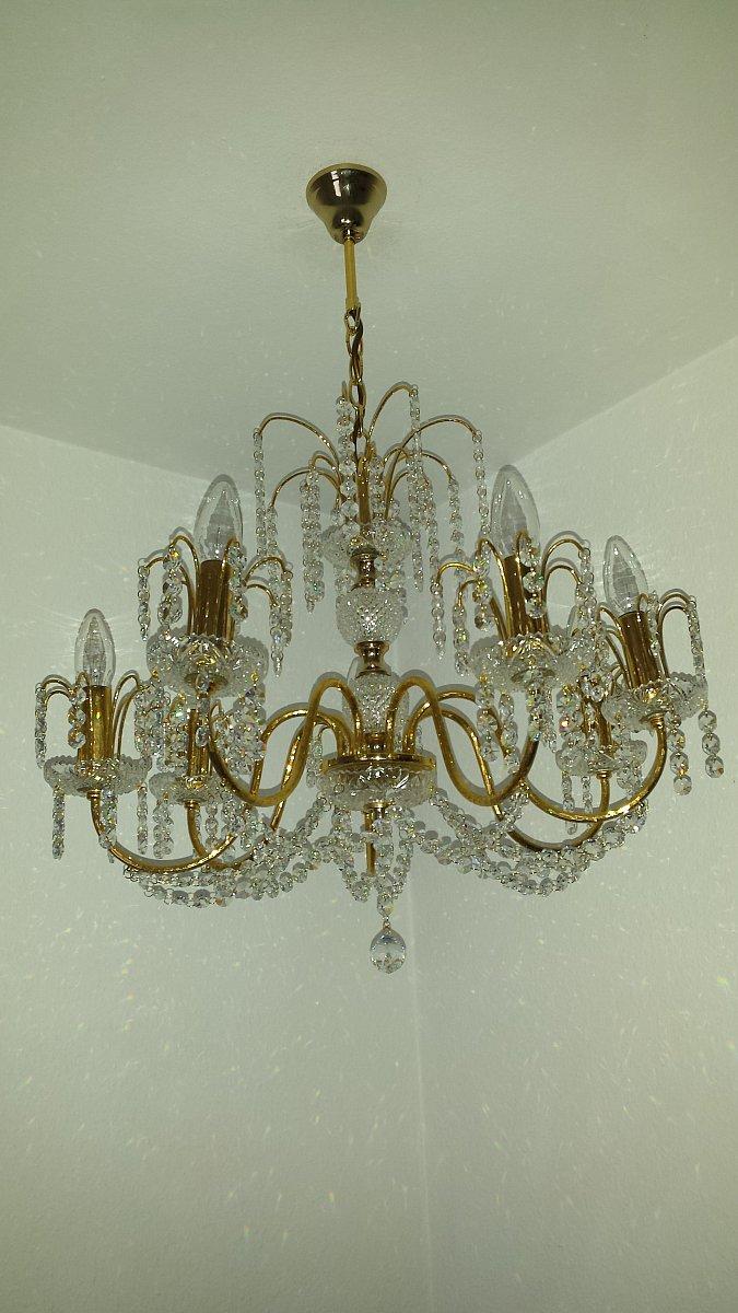 kristalll ster kristall l ster s lken leuchten kronleuchter leuchter 7 armig ebay. Black Bedroom Furniture Sets. Home Design Ideas