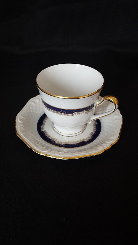 porzellan kaffee service eschenbach bavaria germany echt kobalt ebay. Black Bedroom Furniture Sets. Home Design Ideas