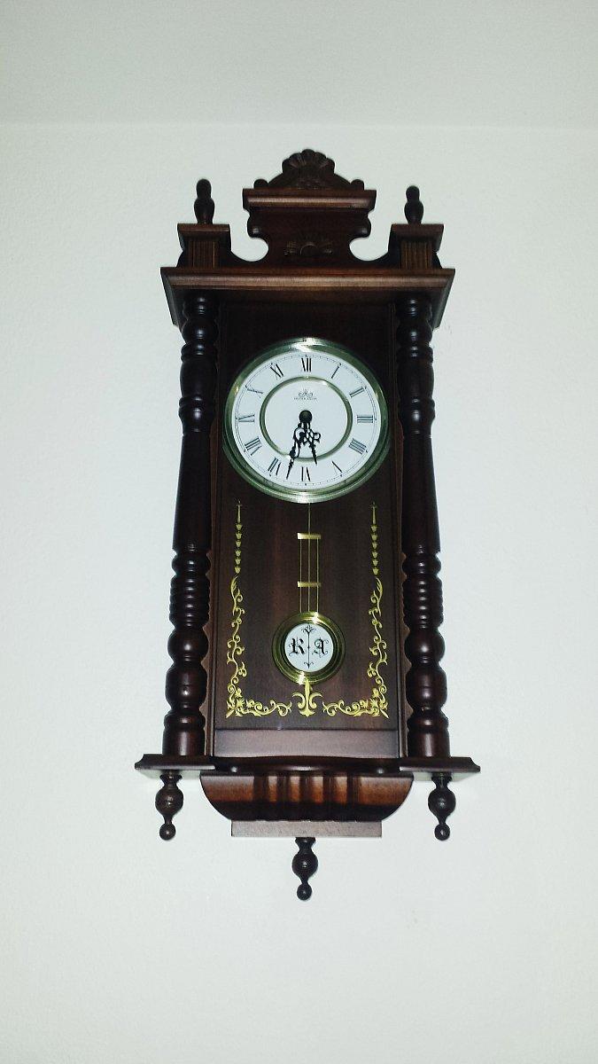 meister anker alte wanduhr pendeluhr antik holz. Black Bedroom Furniture Sets. Home Design Ideas