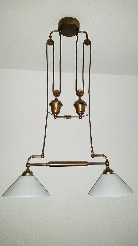 doppelpendelleuchte mit zug von emb messinglampen. Black Bedroom Furniture Sets. Home Design Ideas