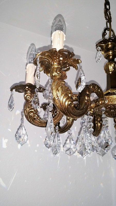 8 fl gro er kronleuchter hochwertig kristall ebay for Lampen hochwertig