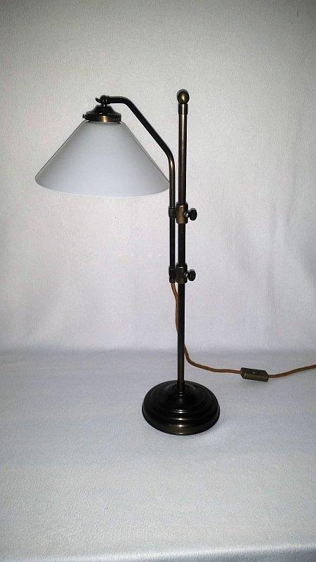 h henverstellbare art d co tischleuchte mit kegelschirm von jugendstil leuchten. Black Bedroom Furniture Sets. Home Design Ideas