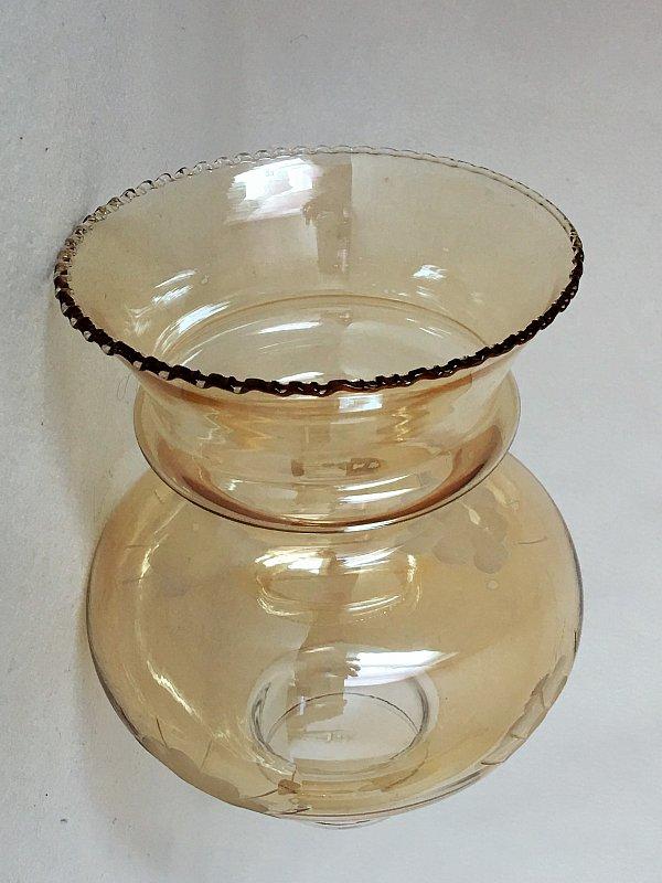 lampenschirm glas glasschirm frankreich um 1900 antik jugendstil ebay. Black Bedroom Furniture Sets. Home Design Ideas