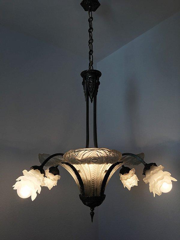 art deco lustre france 1930 ebay. Black Bedroom Furniture Sets. Home Design Ideas