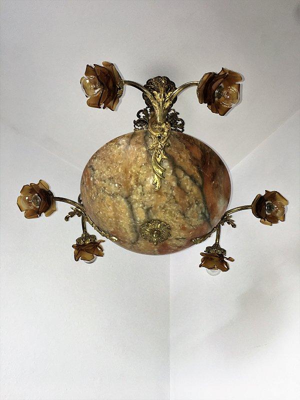 einzigartig jugendstil kronleuchter lampe prunkvoll alabaster art nouveau ebay. Black Bedroom Furniture Sets. Home Design Ideas
