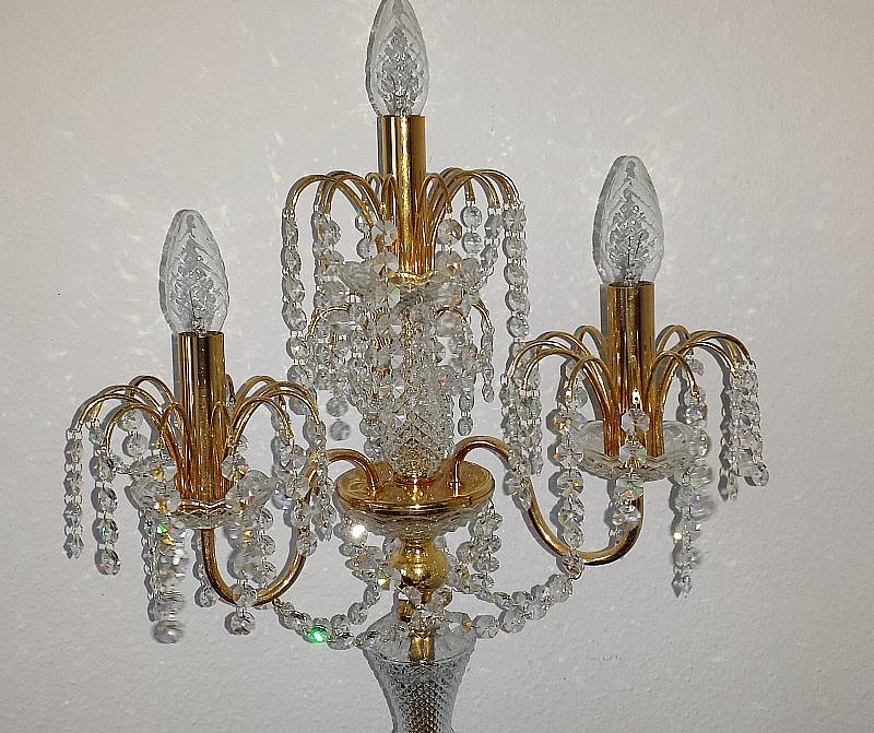 sehr edle bleikristall stehleuchte s lken leuchten. Black Bedroom Furniture Sets. Home Design Ideas