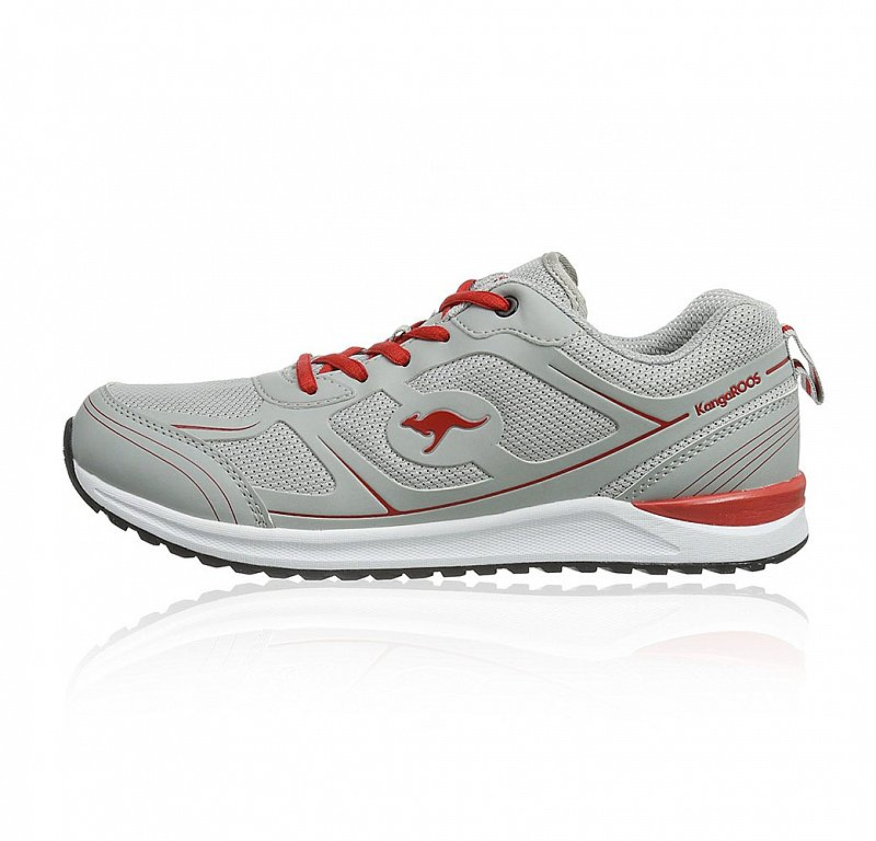 kangaroos sneaker grey red herren sneaker verschiedene gr en neu ebay. Black Bedroom Furniture Sets. Home Design Ideas