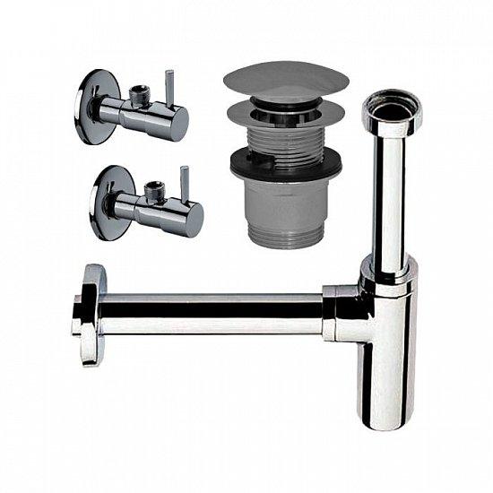 design siphon sifon 2 x eckventil ablauf waschbecken absperrventil ebay. Black Bedroom Furniture Sets. Home Design Ideas