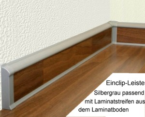 clip in sockelleisten f r laminat parkett kork b den ebay. Black Bedroom Furniture Sets. Home Design Ideas