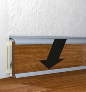 clip in sockelleisten f r laminat parkett kork b den ebay. Black Bedroom Furniture Sets. Home Design Ideas