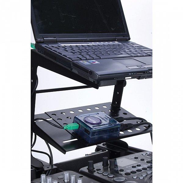 dj laptop stativ mixer st nder notebook halter ablage f r winkelrack case neu ebay. Black Bedroom Furniture Sets. Home Design Ideas