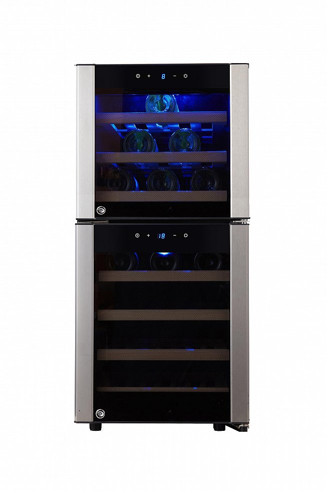 kalamera weink hlschrank f r bis zu 33 flaschen k hlschrank f r wein wine fridge ebay. Black Bedroom Furniture Sets. Home Design Ideas