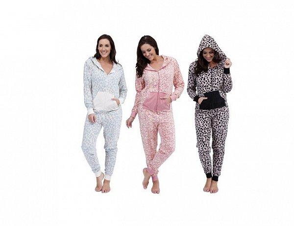 damen animal hausanzug overall jumpsuit pyjama aus. Black Bedroom Furniture Sets. Home Design Ideas