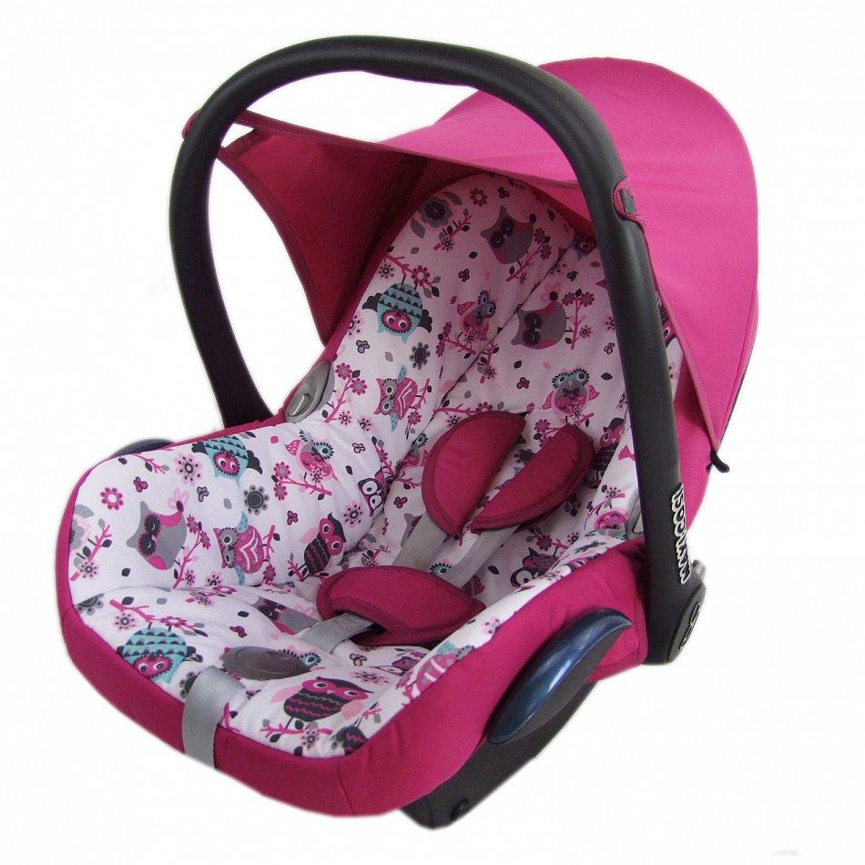 kompl ersatzbezug 6 tlg f r maxi cosi cabriofix bezug babyschale pink eulen 1 ebay. Black Bedroom Furniture Sets. Home Design Ideas