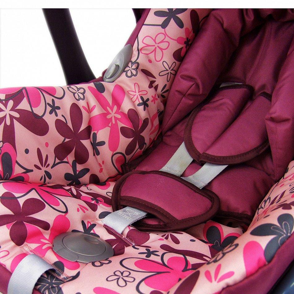 kompl ersatzbezug 6 tlg f r maxi cosi cabriofix bezug babyschale bordo blumen ebay. Black Bedroom Furniture Sets. Home Design Ideas