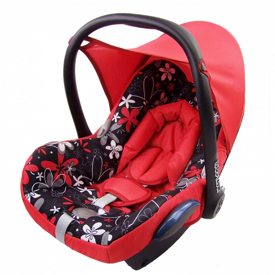 kompl ersatzbezug 6 tlg f r maxi cosi cabriofix bezug babyschale rot blumen ebay. Black Bedroom Furniture Sets. Home Design Ideas