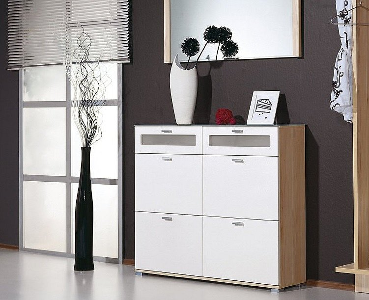schuhschrank wei 110x95x30 cm schuhkipper germania 5127 112 ebay. Black Bedroom Furniture Sets. Home Design Ideas