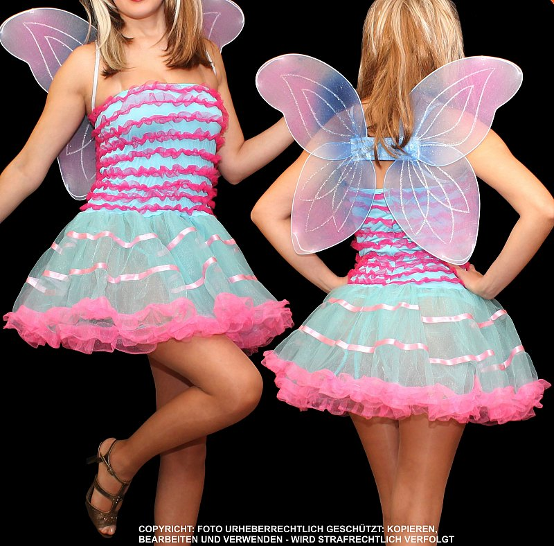 elfe fee tinkerbell schmetterling fasching karneval damen kost m kleid xs s ebay. Black Bedroom Furniture Sets. Home Design Ideas