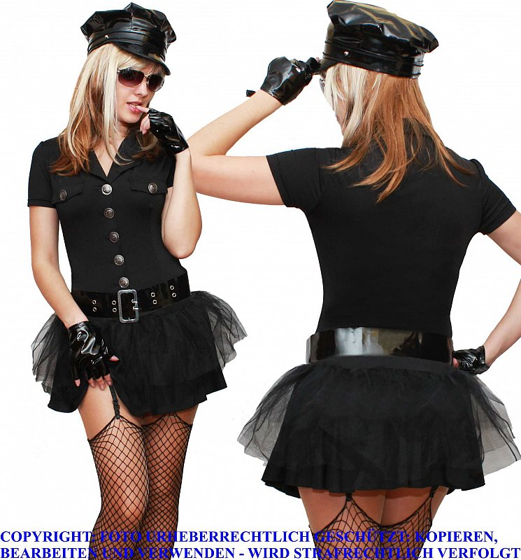 police polizistin polizei uniform fasching karneval damen kost m s m l xl xxl ebay. Black Bedroom Furniture Sets. Home Design Ideas