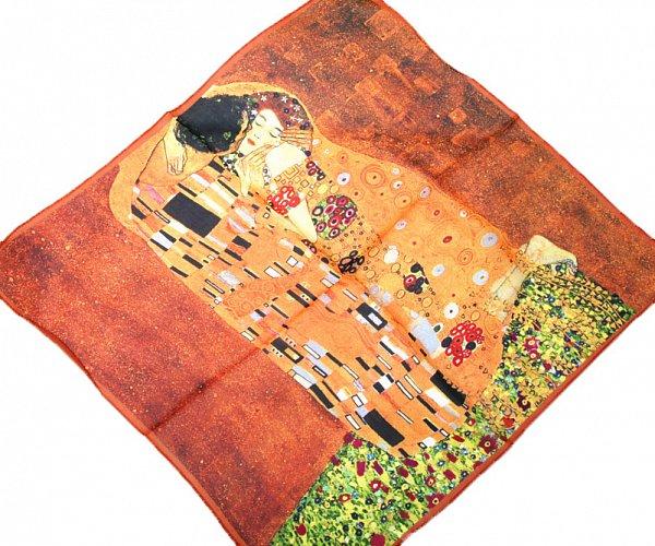 p986 55cm kunstdruck jungendstil malerei seidentuch gustav klimt der kuss ebay. Black Bedroom Furniture Sets. Home Design Ideas