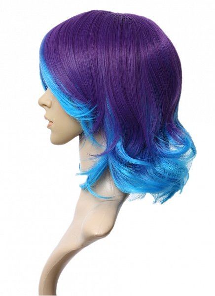 c725 vocaloid2 anti the holic rin 40cm lila blau welle per cke prettyland wig ebay. Black Bedroom Furniture Sets. Home Design Ideas