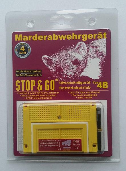 stop go marderabwehr ultraschall ger t mit batterie typ. Black Bedroom Furniture Sets. Home Design Ideas